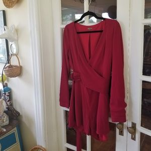 🆕️ Anthro - Wrap Style Romper in Cranberry